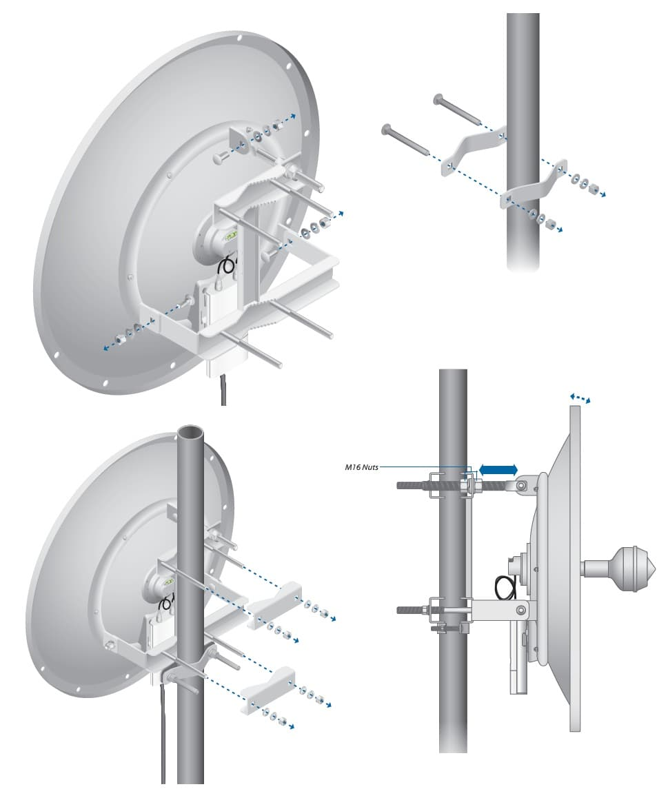 Установка Ubiquiti RocketDish5G